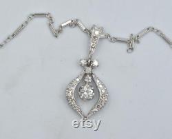 0.44 TW Diamond Pendant Necklace 14k White Gold