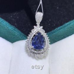 1.70ct Natural sapphire diamond pendant