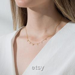 14K GOLD Necklace Mother's Day Gift Personalized Name Necklace Gold Personalized Bridesmaid Gifts Solid Gold Letter Necklace