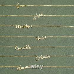 14K Gold Name Necklace Personalized Name Necklace Dainty Name Necklace Custom Name Necklace Mothers Gift Solid Gold Necklace