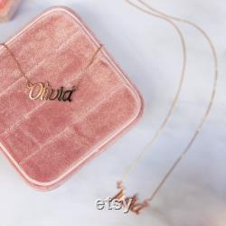 14K Gold Name Necklace Rose Gold Yellow Gold White Gold Name Necklace Perfect Gift for Wife Maisie