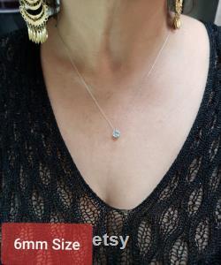 14Kt Gold Genuine Aquamarine Necklace, Aquamarine Pendant, March Birthstone Necklace
