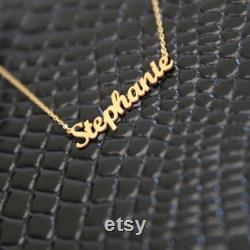 14k Solid Gold Name Necklace-Customized Jewelry-Gift For Her-Initial Necklace-Gold Necklace-Personalized Necklace-JX11