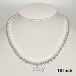 16-22 Inch Japanese Akoya Pearl Necklace AAAA 6-8mm White Akoya Pearl Necklace Wedding Necklace Bridal Necklace Jewelry Sets for Women