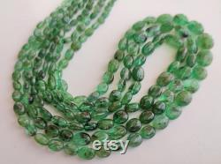18 inches Fine Emerald Oval Necklace Sterling Silver beautiful necklace for gift his her anniversary