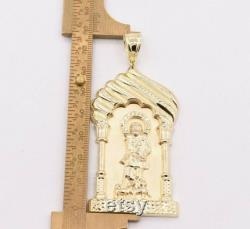 3 1 4 Saint Lazarus Jesus Pendant Diamond Cut Real 10K Yellow Gold