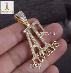 AP Always Alphabet Pendant, 14k Gold Plated Pendant, Diamond Pendant, CZ Pendant, Birthstone Pendant, 925 Sterling Silver Pendant