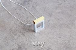 Anniversary Necklace Anniversary Jewelry Aluminum Necklace Aluminum Jewelry Open Window