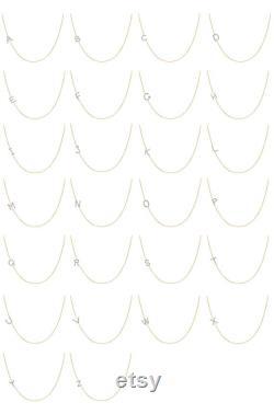 Asymmetrical diamond initial necklace, diamond letter necklace