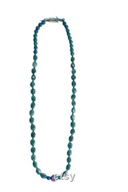 Beadoculture Green Aventurine Necklace With Floral Metal Ball For Her