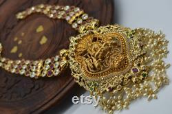 Beautiful Laxmi idol necklace