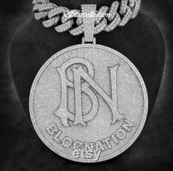 Christmas 3 Fully iced out 3D custom Made Any Letter pendant in Solid 925 sterling silver with CZ Round diamond