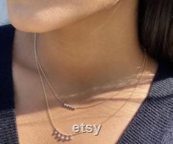 Diamond Charm Necklace, Charm Necklace, 14kt Yellow Gold Necklace, Diamond Necklace Gift, Dainty Diamond Necklace, Gift