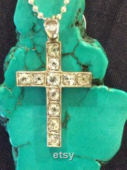 Diamond cross pendant handmade