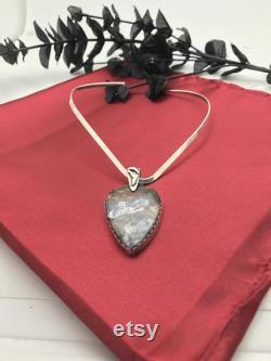 Gemstone-Pendant-Tiffany Stone-Choker-Sterling Silver