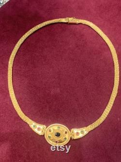 Gold 22 karats handmade byzantine necklase.Unique handamde piece very heavy.A masterpiece of jewelry