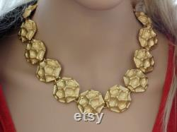 Gold Circles Statement Necklace. Statement Necklace.Bib Necklace.Bib Gold Necklace.wedding Necklace.Bridal Necklace, Bridesmaids Gift,