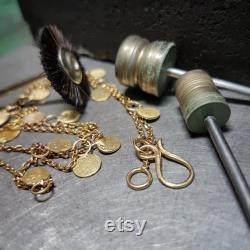 Gold Sequins Necklace