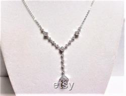 Gr 76 14K Gold and Diamond Drop Necklace