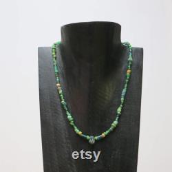 Green Dream antique Roman glass necklace