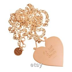 Heart with engraving on long necklace, silver gold plated, name chain, custom made, handmade, individually engraved, monogram, family necklace,