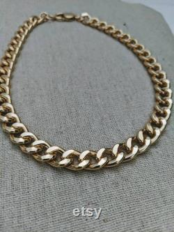 High Quality Gold Filled Solid Choker Yellow Gold Never Rust Choker Layering Stackable Choker