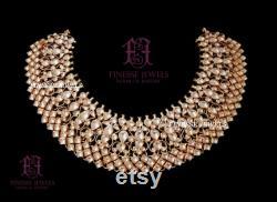 Indian Jewelry Necklace Earrings Tikka Kundan Jewelry Art Karat Inspired