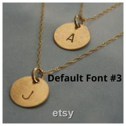 Initial Necklace, Tiny Yellow Gold Initial Necklace, 14k Solid Gold Initial, Tiny Gold Initial Disc Necklace, Initial Necklace, Perfect Gift