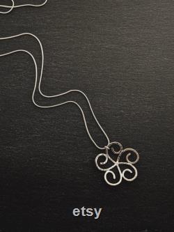 Large swirl flower pendant with hammer texture, large plumeria pendant, handmade sterling silver flower pendant, anniversary gift for her
