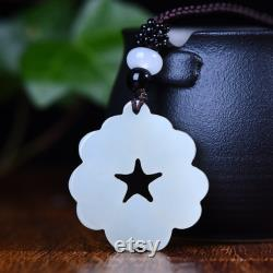 Love Delicate hotan jade pendant necklace gifts for women Love necklace Carved Jewels