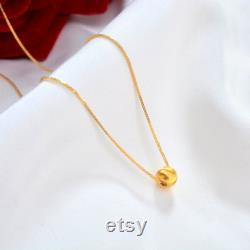 NYMPH Pure gold 18K Au750 Pendant necklace with 18K Gold chopin chain classic Women Fine Jewelry Birthday Party Gift 3D