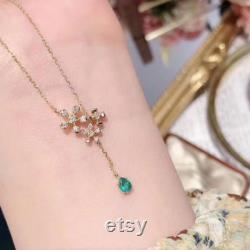 Natural Emerald Pendant, Engagement Pendant, Emerald Silver Pendent, Woman Pendant, Pendant Necklace, Luxury Pendent, Pear Cut Stone Pendent