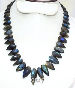 Natural Labradorite Necklace, Mins Afrita
