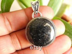 Natural Nuummite pendant Sterling Silver pendant Nuummite cabochon Pendant stone pendant Nuummite gemstone pendant gift for her NJ134