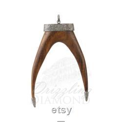 Natural Pave Diamond Designer Pendant,925 Silver Pendant,Anxiety Pendant,Wedding Pendant,Pave Diamond Jewelry,Boho Jewelry,Victorian Pendant