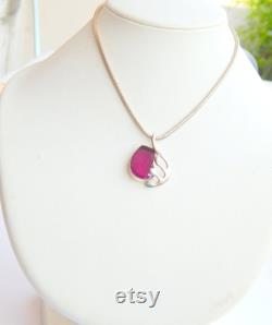 Natural Pink Tourmaline Pendant in 925 Sterling Silver, Bird Dove Pink Tourmaline Pendant Necklace, Christmas Jewelry Gift for women her