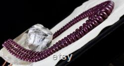 Natural UNTREATED RUBY BEADS Round 3 Line 1190 Carats 16mm Big Gemstone Ladies Necklace