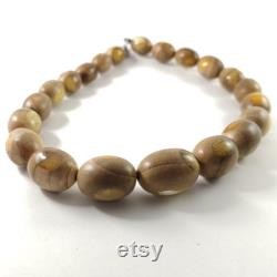 Natural Wood Amber Fashion Jewelry Amber Beads Necklace Round Beads Amber Gemstone Bead Necklace Amber Wood Necklace Christmas Gift