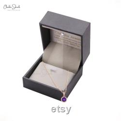 Natural amethyst pendant gemstone jewelry in 14k gold women's jewelry february birthstone labor's day offer with silver chain