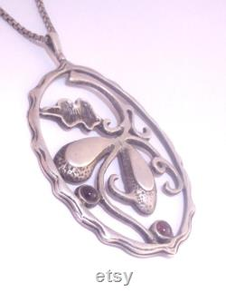 Old Sterling, silver pendant, Chain Necklace, Vintage jewelry, Silver Jewelry, antique necklace, old pawn, free shipping