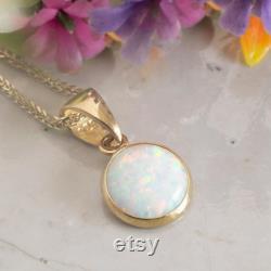 Opal Necklace, 14k Gold Necklace, Opal Jewelry, Opal Pendant, Vintage Gold Necklace, Statement Necklace, Gold Pendant, Necklaces For Women