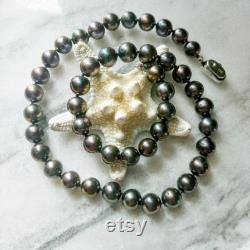 Precious Black Peacock Pearl Necklace Elegant, Eye-Catching Jewelry Gifts for Her Birthday, Mother s Day, Anniversary, Wedding, Love