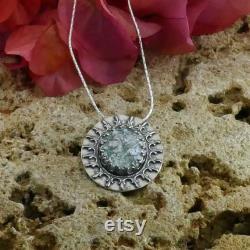 SPIRA Green Roman Glass 925 Sterling Silver Green Roman Glass Rope Pendant Chain Ancient Roman Glass Roman Glass Patina Roman Glass Pendant