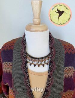 Sample Sale Necklace, Marsala, Assorted Czech Glass Beads, Japanese Seed Beads, Bronze Findings, 19 Inch Collar Style