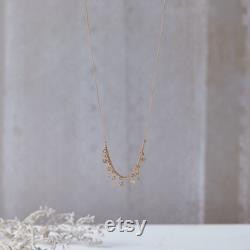 Short Gold Boho Chic Chain Necklace for Women, Gold-Filled Charms Dangle Sparkly Layering Necklace, Trendy Unique Necklace
