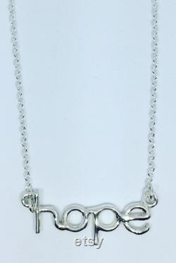 Silver hope necklace