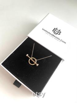 T Bar Diamond Necklace, 14k Gold Necklace, 18k Gold Necklace, Gift for Her, Personalized Gift, Layered Necklace, Minimalist Necklace