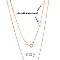 Teardrop Diamond Station Necklace 14k 18k Solid Gold Dainty Diamond Necklace Chain Diamond Choker Thin Minimalist Necklace for Women
