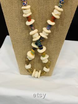 Trade Beads, Trade Bead Jewerly, Tribal Necklace, African Jewerly, African Men Necklace, Ethnic Jewelry, Wakanda Necklace
