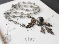 Victorian Acorn and Oak Leaf Necklace. The Oak King's Bride.